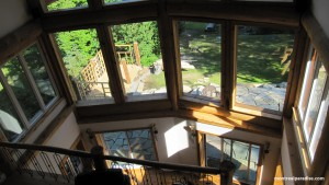 View from 2nd Floor Looking down to Yard and Patio