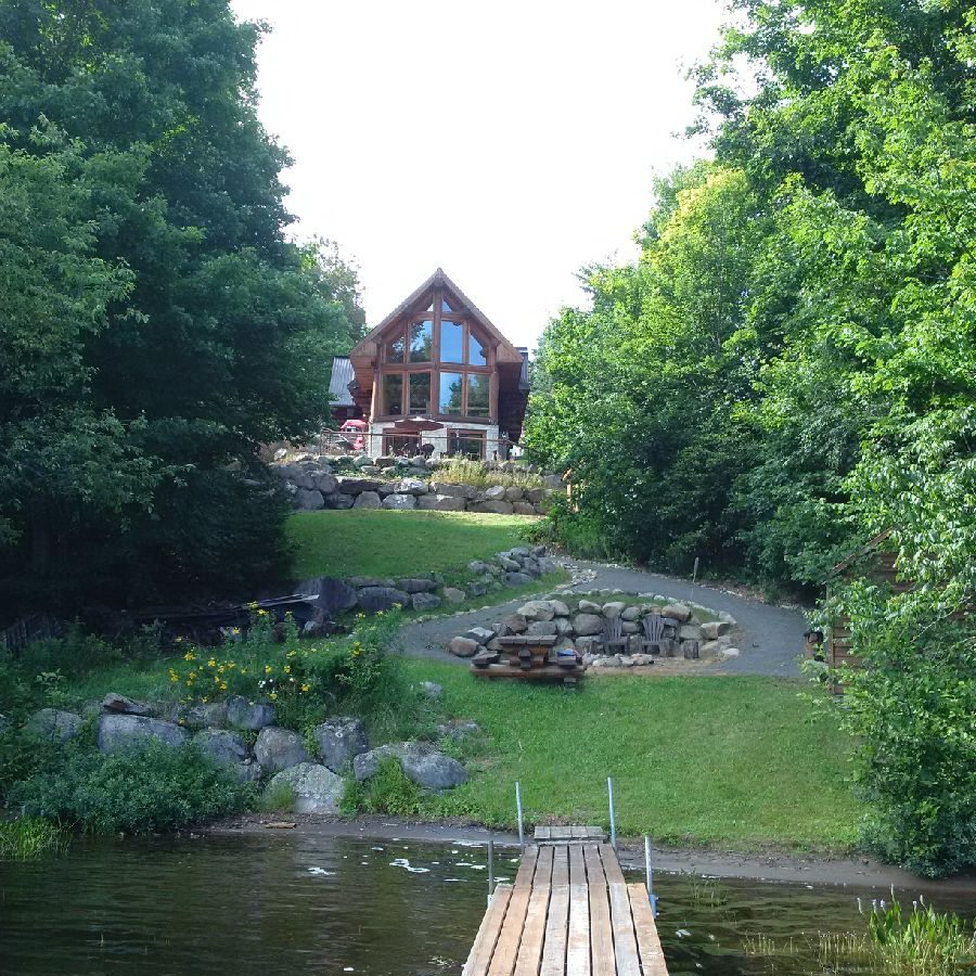 Lakeside Cottage in the Summer near Montreal